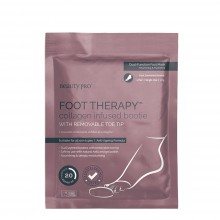 BeautyPro FOOT THERAPY Collagen Infused Bootie with Removable Toe Tip