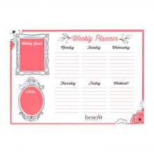 Buy 2 Benefit Products, Get A FREE Benefit Weekly Planner. Use Code: PLANNER